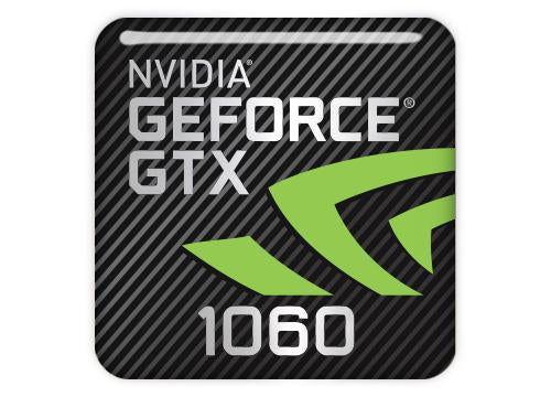 "nVidia GeForce GTX 1060 1""x1"" Chrome Effect Domed Case Badge / Sticker Logo"