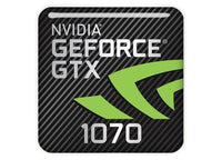 "nVidia GeForce GTX 1070 1""x1"" Chrome Effect Domed Case Badge / Sticker Logo"