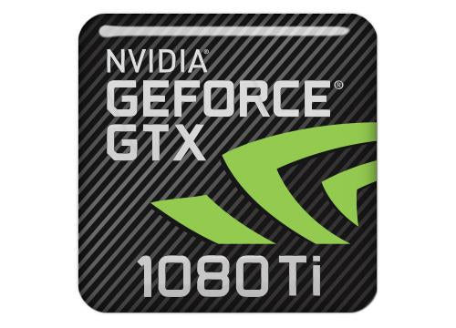 "nVidia GeForce GTX 1080 Ti 1""x1"" Chrome Effect Domed Case Badge / Sticker Logo"