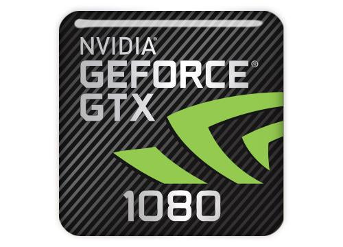 "nVidia GeForce GTX 1080 1""x1"" Chrome Effect Domed Case Badge / Sticker Logo"