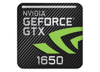 "nVidia GeForce GTX 1650 1""x1"" Chrome Effect Domed Case Badge / Sticker Logo"