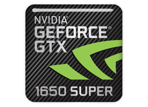"nVidia GeForce GTX 1650 Super 1""x1"" Chrome Effect Domed Case Badge / Sticker Logo"