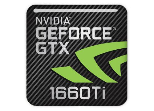 "nVidia GeForce GTX 1660 Ti 1""x1"" Chrome Effect Domed Case Badge / Sticker Logo"