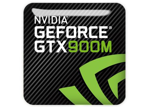 "nVidia GeForce GTX 900M 1""x1"" Chrome Effect Domed Case Badge / Sticker Logo"