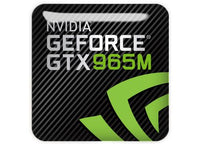 "nVidia GeForce GTX 965M 1""x1"" Chrome Effect Domed Case Badge / Sticker Logo"