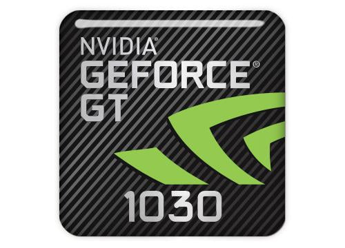 "nVidia GeForce GT 1030 1""x1"" Chrome Effect Domed Case Badge / Sticker Logo"