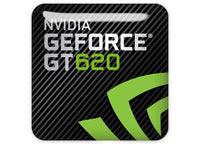 "nVidia GeForce GT 620 1""x1"" Chrome Effect Domed Case Badge / Sticker Logo"
