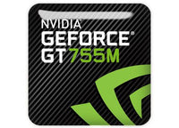 "nVidia GeForce GT 755M 1""x1"" Chrome Effect Domed Case Badge / Sticker Logo"