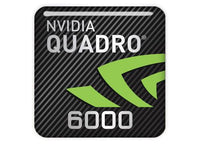 "nVidia Quadro 6000 1""x1"" Chrome Effect Domed Case Badge / Sticker Logo"