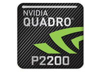 "nVidia Quadro P2200 1""x1"" Chrome Effect Domed Case Badge / Sticker Logo"