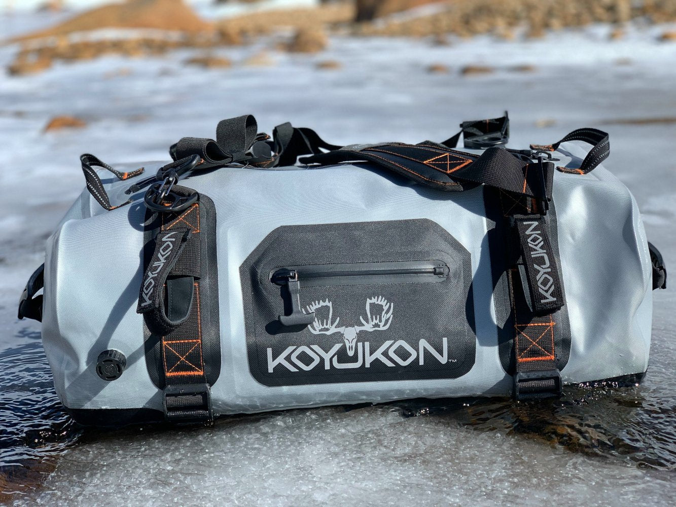 Koyukon Grey Waterproof Duffel Bag
