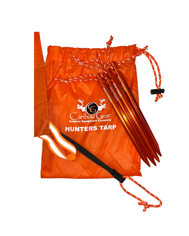 The Caribou Gear Hunters Tarp With Tent Stakes