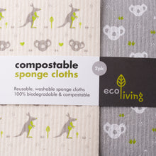 Load image into Gallery viewer, Compostable Sponge Cleaning Cloths - Wildlife Rescue