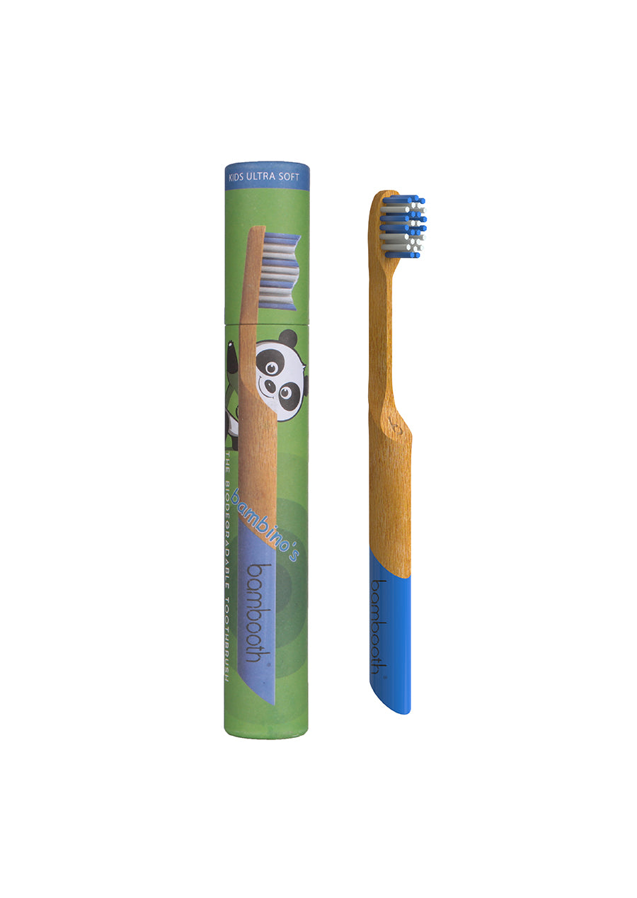 Kids Bamboo Toothbrush - Sea Blue Bambino