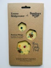Load image into Gallery viewer, Emma Bridgewater Bees & Buttercup Beeswax Wrap (Trio Pack)