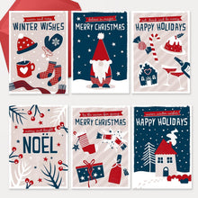 Load image into Gallery viewer, Believe in magic! FSC paper - Scandi style luxury Christmas card