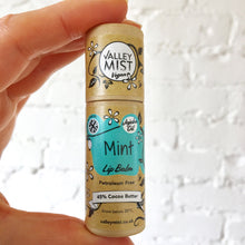 Load image into Gallery viewer, MINT - Vegan Valley Mist Lip Balm 10g Zero Waste Packaging