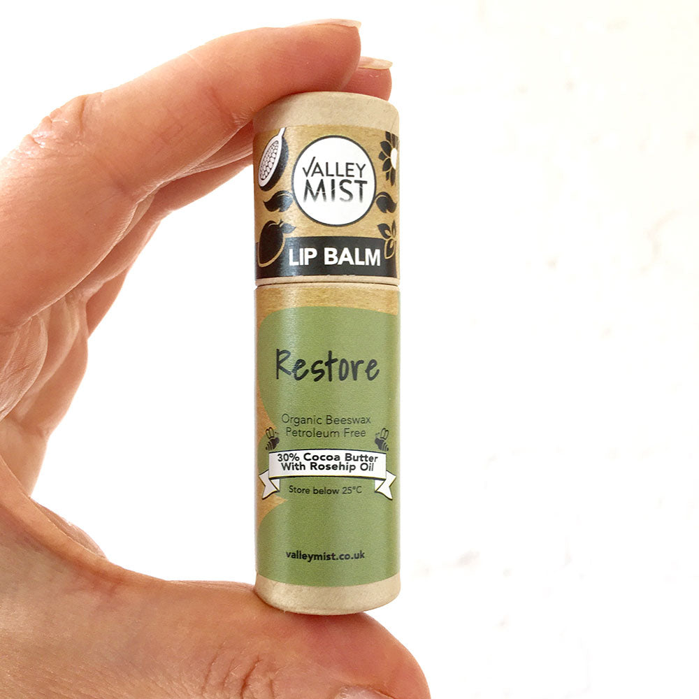 RESTORE - Vegan Valley Mist Lip Balm 10g Zero Waste Packaging