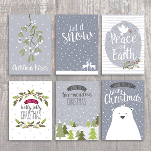 Let it Snow! FSC paper - luxury Christmas card