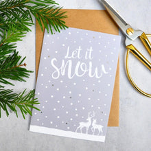 Load image into Gallery viewer, Let it Snow! FSC paper - luxury Christmas card