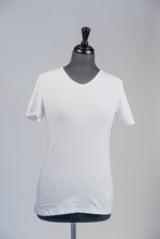 Load image into Gallery viewer, Basic V-neck T-shirt- White
