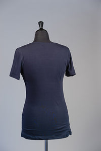 Basic V-neck T-shirt - Navy