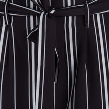 Load image into Gallery viewer, Black/White Striped Trouser