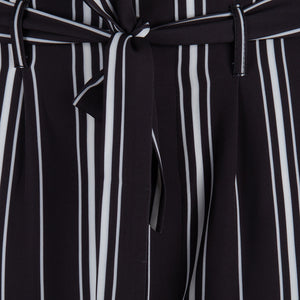 Black/White Striped Trouser