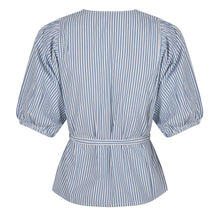 Load image into Gallery viewer, Striped Wrap Blouse