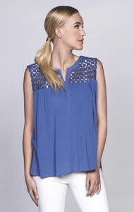 Cutout Sleeveless Top