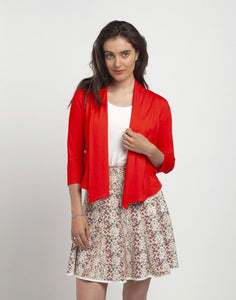 Waterfall Cardigan- Vemillion