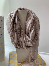 Load image into Gallery viewer, Neutral Snake Print Scarf