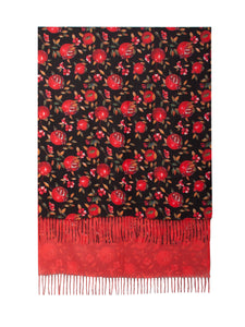 Double sided Scarf- Pomegranate