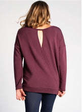 Load image into Gallery viewer, Riley Crossover Sweater - Plum
