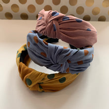 Load image into Gallery viewer, Brushed Polka dot Headband