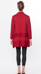 Cowl Neck Tunic - Red