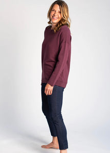 Riley Crossover Sweater - Plum