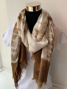 Crinkle Tie-Dyed Scarf
