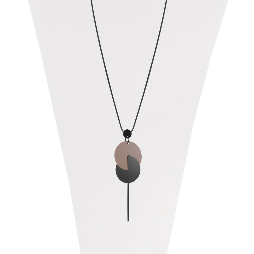 Long Adjustable Disc Necklace