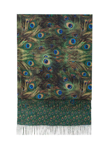 Double sided Scarf- Peacock