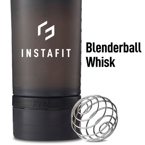 BlenderBottle® InstaFit Prostak 22 oz (650 ml) Negro
