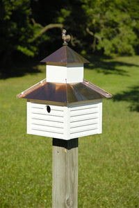 Rusty Roster Birdhouse - Fortune And Glory - Made in USA Gifts