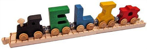 NameTrain Personalized Wooden Train with Track - Fortune And Glory - Made in USA Gifts