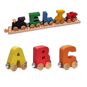 NameTrain Personalized Wooden Train with Track