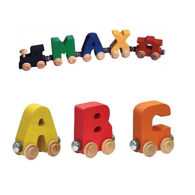 NameTrain Personalized Wooden Train - Fortune And Glory - Made in USA Gifts