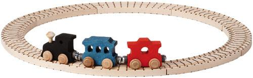 Basic Wooden Train Set - Maple Landmark - Fortune And Glory - Made in USA Gifts