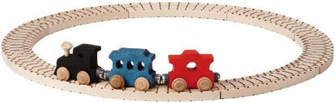 Basic Wooden Train Set - Maple Landmark