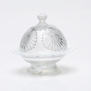 Shell Glass Butter Dish - 3 Color Options - Baby Gifts