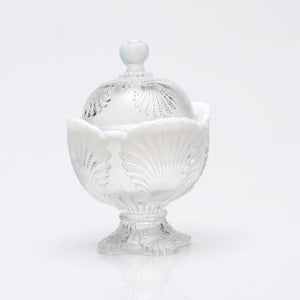 Shell Glass Sugar Bowl - 3 Color Options