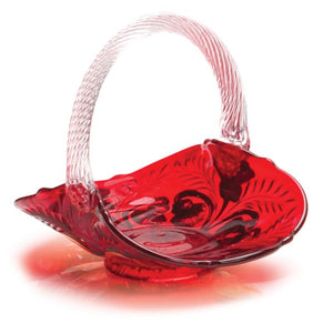 Inverted Thistle Glass Berry Basket - 4 Color Options